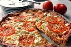 No Salt Recipes, Food Inspiration, Quiche, Feta, Tart, Goodies, Food And Drink, Healthy Recipes, Healthy Food