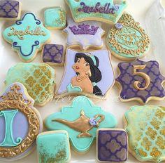 Princess Jasmin cookies Princess cookies Birthday cookies