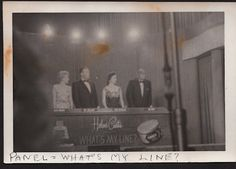 What's My Line panel: Arlene Frances, ???, Dorothy Kilgallen and Bennett Cerf.