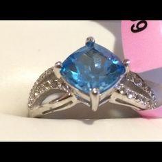 NWT sterling silver topaz ring NWT blue topaz sterling silver ring size 7 Jewelry Rings