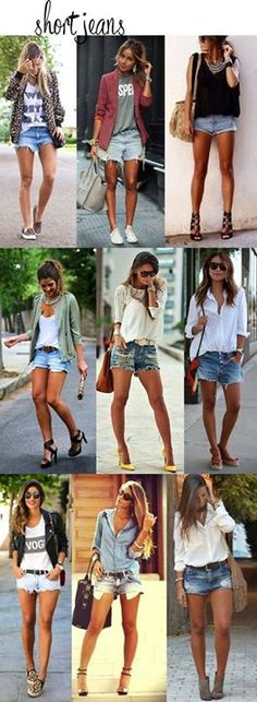 40 Of The Best Summer Outfits To Copy Right Now Amor eterno: Short Jeans Shorts Outfits Women, Mode Outfits, Casual Outfits, Fashion Outfits, Jeans Fashion, Jean Short Outfits, Short Jeans, Short Shorts, Spring Summer Fashion