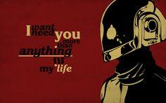 Daft Punk Red Wallpaper