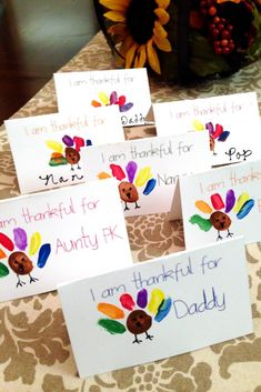 Thanksgiving Place Cards that Kids Can Make - Free Printable