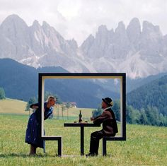 Landscape frame. Minimalist design
