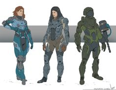 ArtStation - Armored military/explorers Concept, Fernando Gomes