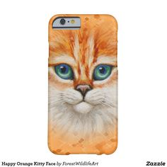 Happy Orange Kitty Face Barely There iPhone 6 Case