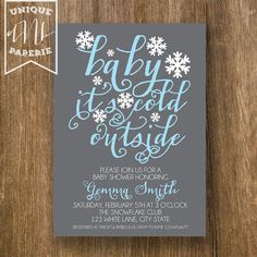 printable coed optional winter baby shower by paisleydaynedesigns, Baby shower invitations