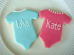 Baby Shower Twin Onesies Cookies
