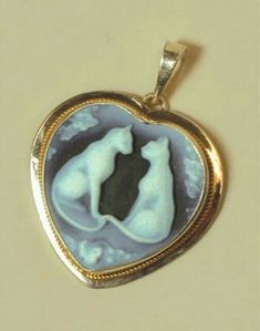 Silver Cat Cameo Pendant from Victorian Trading Co.
