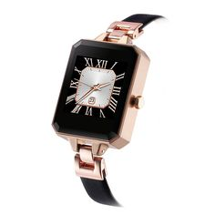 LEMFO LEM2 Bluetooth Smartwatch Fashion Female Women Watch Heart Rate Monitor MTK2502C APK for Apple IOS Android Phone (Gold)