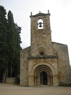 Iglesia románica de Sta. María de Porqueres  Girona Catalonia