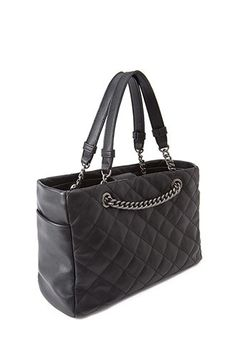 Faux Leather Quilted Satchel Forever 21 1002247276 Handbags