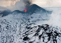Volcano in Kamtchatka, Russia