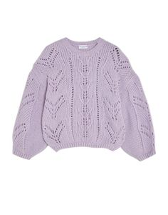 Open knit sweater with puff sleeves - Knit - Clothing - Woman - PULL&BEAR Ukraine