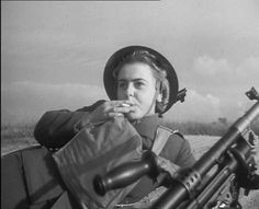 A Polish woman soldier in 1943. From an excellent post by @Chris Cote Cote Holme http://historycompany.co.uk/2013/10/23/polish-women-soldiers-in-gullane/