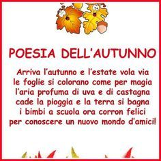 Risultati immagini per poesie autunno scuola primaria rodari Spring Poem, Italian Lessons, In Natura, School Subjects, Learning Italian, Popular Quotes, Special Needs Kids, New School Year, Teaching Materials