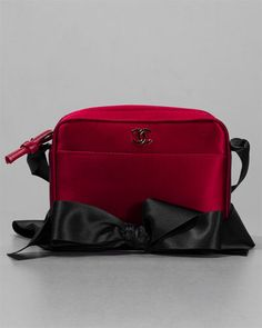 Chanel Red Satin Bow Strap Evening Bag  http://fashionbagarea.blogspot.com/  #chanel #handbags #bags #fashion women chnael 2015 bags are under $159
