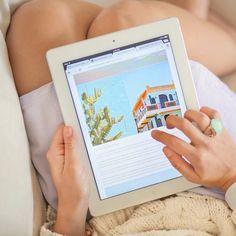 iPad in the sofa
