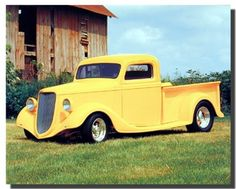 Absolutely outstanding that is what the first thing comes into your mind after seeing this amazing wall poster. This poster display the image of yellow Dodge pickup vintage truck parked in a ground is sure to catch lot of attention and create a memorable new addition to your decor! Hurry up and buy this wall poster for your beautiful home for its high quality and 100% color accuracy.