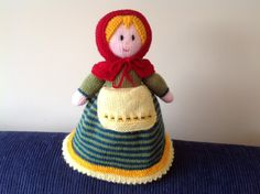 A lovely Little Red Riding Hood Topsy Turvey Doll.  Such fun to knit!