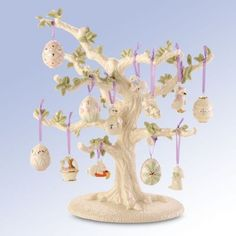 Lenox-Set-of-12-Ornaments-TREE-Easter-Eggs-Bunny-Duck-Basket-NIB