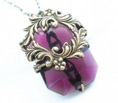 Princess Crown - Original Purple Jewelry Art...