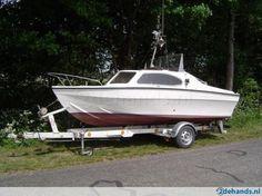 Kajuit visboot (visnet anker vissen)