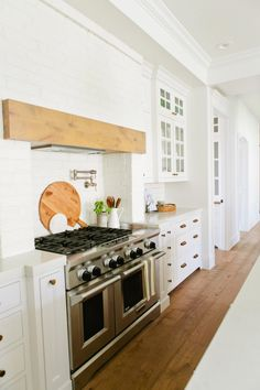Cornice or header faces front of range hood | Kitchen + Dining | Fresh Faces of Design | HGTV