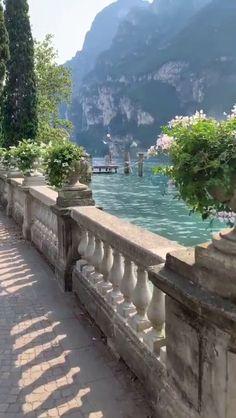In Lake Garda, Italy.