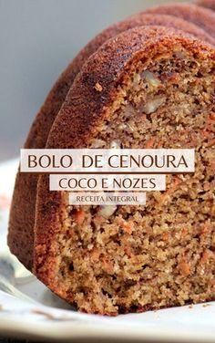 Low Carb Recipes, Baking Recipes, Dessert Recipes, Healthy Recipes, Good Food, Yummy Food, Portuguese Recipes, Yummy Cakes, Sweet Recipes