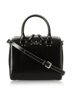 Amazon.com: Kate Spade Wellesley Alessa Genuine Leather Shoulder Crossbody Bag Purse Handbag, Black: Shoes