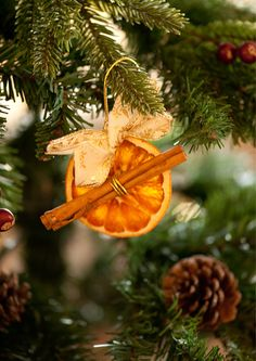 dried orange and cinnamon diy christmas ornaments - Orange Christmas Decorations