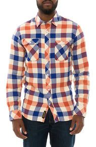 Benny Gold The Cabin Flannel in Rust