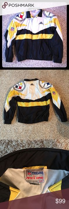 Pittsburgh Steelers Vintage 1990s APEX Jacket GO STEELERS. Your Pittsburgh Steelers fan will look great wearing this jacket on game day. APEX Jackets & Coats Performance Jackets