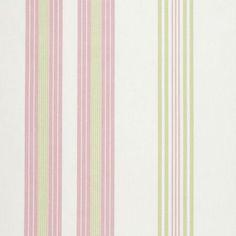 Clarke and Clarke Curtain Fabric -  Lulu Stripe in Rose