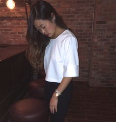 Structured White Top