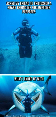 Hahahaha omg i need to do this when i go diving next week!