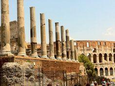 Rome, Italy.  Column Ruins.