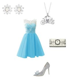 Cinderella by saaaamgames on Polyvore featuring polyvore, fashion, style, Disney and Swarovski
