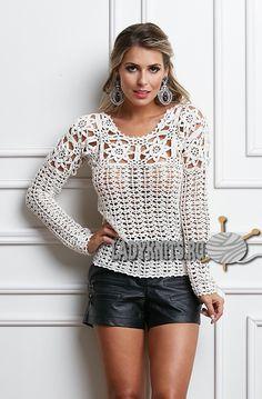 Smart crochet cardigan