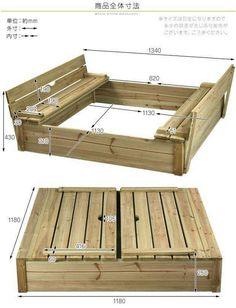 Madera sandbox for kids, sandbox diy, sandbox ideas, kids sandpit, pall