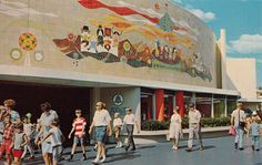 Tomorrowland Tile Mural, 1967 Postcard by 4 Color Cowboy on Flickr.