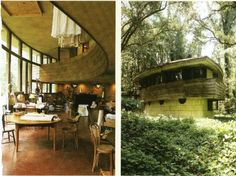 Frank Lloyd Wright's Lewis house (1954), Tallahassee, Florida. Dwell Magazine, 2006:  In the 1940s, she [Clifton Lewis] met Wright at a world federalism conference - they were both believers in international government - and she persuaded him to design a house for her young family. Not long after, Lewis became one of the leaders of the civil rights movement in Tallahassee. Her activism led some white customers to abandon her husband's bank, plunging the once-wealthy family into gent
