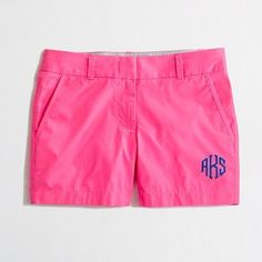 monogrammed j crew chinos except the monogram in white