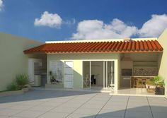 piscinas i ui Village House Design, Village Houses, Simple House Design, Barbecue Grill, My Dream Home, Backyard, Decoration, Architecture, Outdoor Decor