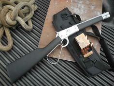 badger-actual:  Chiappa Alaskan Scout, .44 Magnum.