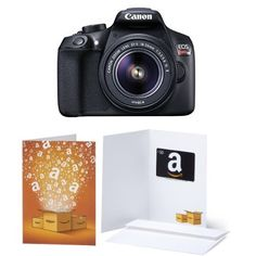 Canon EOS Rebel T6 Digital SLR Camera Kit with 18-55mm Lens + $50 Gift Card #deals