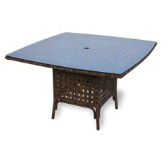 Outdoor Lloyd Flanders Haven All-Weather Wicker 48 in. Square Patio Dining Table - 43048-064