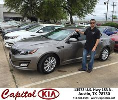 https://flic.kr/p/FKenA4 | Happy Anniversary to Patrick on your #Kia #Optima from Robert Bills at Capitol Kia! | deliverymaxx.com/DealerReviews.aspx?DealerCode=RXQC