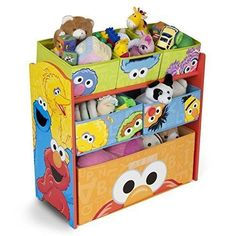 Sesame Street Childrens Toy Storage Bin Organizer Multi-Bin Kids Playroom New #SesameStreet